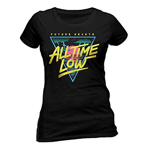 Cid All Time Low-Future Hearts T-Shirt Femme Noir