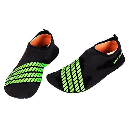 Wingogo Unisex Soft Barfuß Wasser Skin Aqua Schuhe Breathable Aqua Socks Schnell trocknend Grün