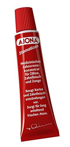 Dr. Rudolf Liebe Nachfolger Ajona Stomaticum medizinisches Zahncremekonzentrat, 4er Pack (4 x 25 ml) -