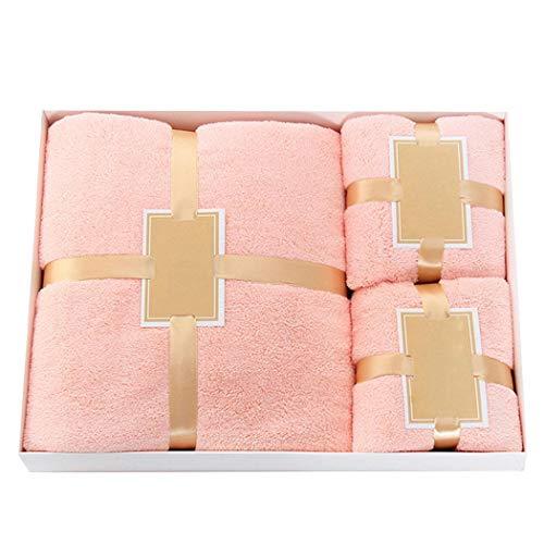 Set asciugamani da bagno in Pile Corallo
