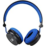 Boat Super Bass Rockerz 400 Bluetooth On-Ear Headphones with Mic (Black/Blue)