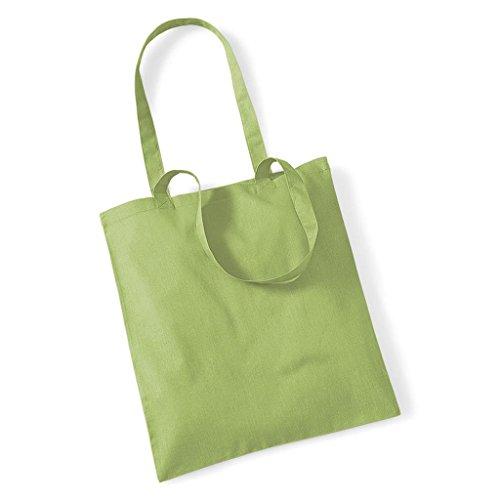 Westford Mill Promo Bag for Life, Baumwolle, Schultertasche, Shopper, Handtasche, One Size Grün - Kiwi