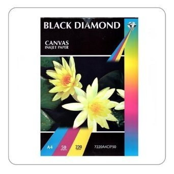 50 Sheets A4 220GSM Black Diamond Canvas Inkjet Paper, Double Sided, White Hi Res Photo Paper for exceptional Results for Fine Art
