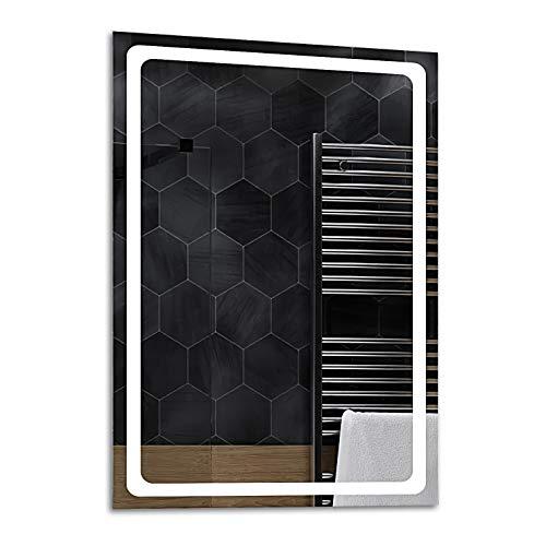 ALASTA® Espejo | Espejo LED de Pared | Diferentes tamaños del Espejo | Houston | Espejo LED con Luminoso...