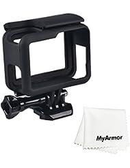 Myarmor OEM Cadre pour GoPro Hero 5Bordure Coque de protection avec tirette rapide Mobile Douille et vis à oreilles Noir