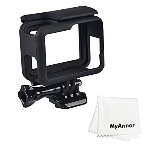MyArmor OEM Frame Border Protective Shell Case for GoPro Hero 5 with Quick Pull Movable Socket and Thumb Screw Black