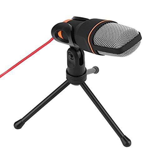 Hermosairis Professionelle 3,5mm Audio Kondensator Sound Studio Aufnahme Singen Rundfunk Mikrofon Mic Mit Stativ Für PC Laptop