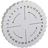 Phenovo Disque à Tissage Rond Outil à Tresser 100mm x 10mm