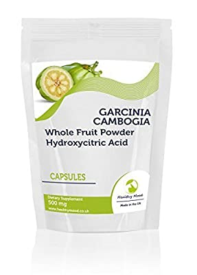Garcinia Cambogia Whole Fruit Powder 500mg 30 Capsules Health Food Supplements Nutrition Hydroxycitric Acid HCA Malabar Tamarind HEALTHY MOOD from Healthy Mood