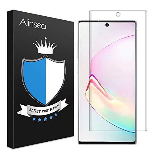 Alinsea Verre Trempé Galaxy Note10 Plus [Lot de 1], [Dureté 9H] [Couverture maximale] [Sensibilité élevée] Protecteur d'écran pour Samsung Galaxy Note10 Plus/Note 10+