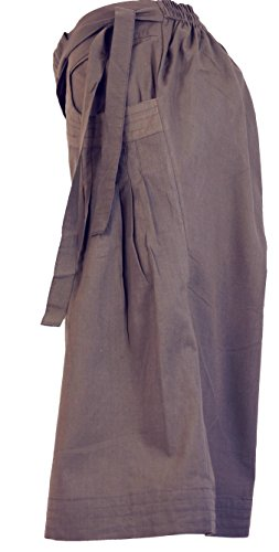 Guru-Shop Shorts Boho-chic, Damen, Baumwolle, Shorts, 3/4 Hosen, Leggings Alternative Bekleidung Cappuccino