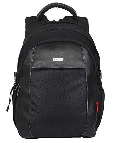 Harissons Rebel Black 15.6  Polyester Laptop Backpack