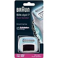 Braun Silk-épil 7 Embout douceur 771/781 avec brosse exfoliante de rechange conçu pour épilateurs Dual