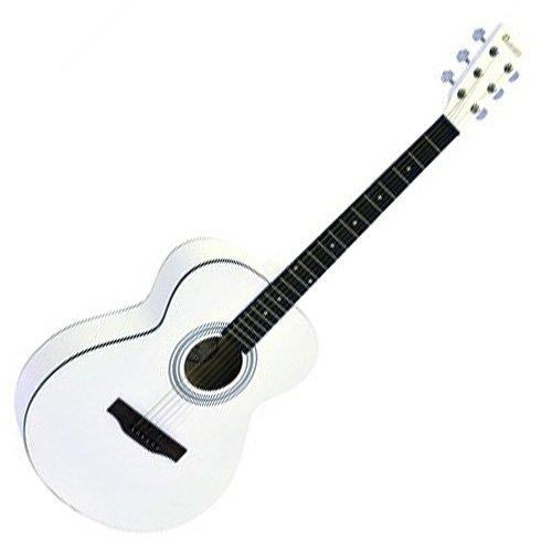 Dimavery 26242007 AW-303 Western Gitarre weiß