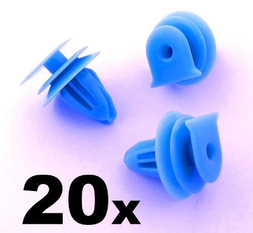 20x Clips Agrafes Plastique - Honda Pare-brise Bure, Panneau Scuttle, Moteur Essuie-glace Housse, Bord Clip (90602-S5A-003, 90602S5A003) - LIVRAISON GRATUITE!