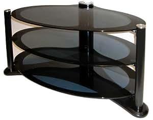 "Icon Aero 4250 - Premium Glass Stand For LCD & Plasma TV Up to 42"" - High Gloss Black"