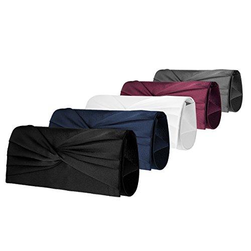 Clutch , Evening Bag Satin / Mod. 2087by fashion-formel Rosso (rosso)