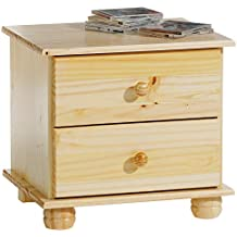 IDIMEX Table de Chevet Table de Nuit Bern 2 tiroirs pin Massif Vernis  Naturel c0f55b1df585
