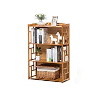 Cylficl Simple Bookshelf Rack Modern Solid Wood Multi-layer Floor Stand Student Children Bookcase Storage Rack Flower Stand Shelves
