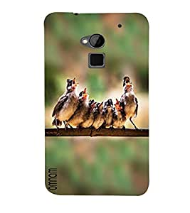 Omnam Sparrow Singing Desinger Back Cover Case For HTC One Max
