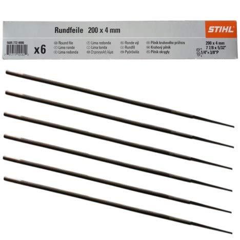 """STIHL Rundfeile 6 Stück für Sägeketten 5,2 mm für 3/8\"""" (5605 771 5206)"""