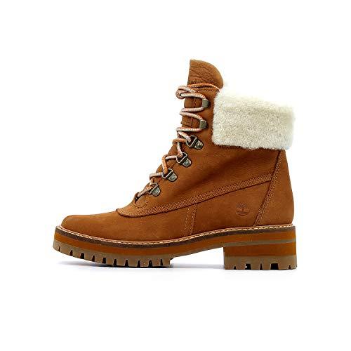 5a661c91bd0e7d Timberland Courmayeur Valley Shearling Saddle Boots Tan 6 UK