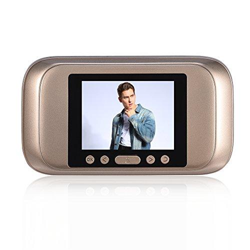 –Mirilla Digital, Pantalla LCD de 3,2Pulgadas HD con 160Grados türkamera Smart Viewer Timbre para Puerta