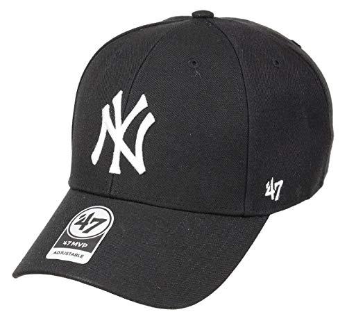 47brand MVP Unisex Damen Herren MLB League Adjustable Baseball Cap Schwarz