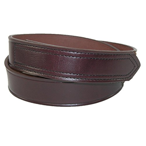 Boston Leather Klett-Leder ohne Rasur Arbeitsgurt für Männer 64 Braun - Boston Echte Gürtel