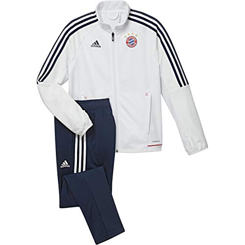 brand new dade1 60672 Adidas FC Bayern München Survêtements Mixte Enfant, White/Conavy, FR : XS  (Taille Fabricant : 176)