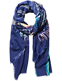 Desigual Damen Schal FOUL_BOLIMANIA TIGER Blau (Azafata 5027) One Size (Herstellergröße: U)