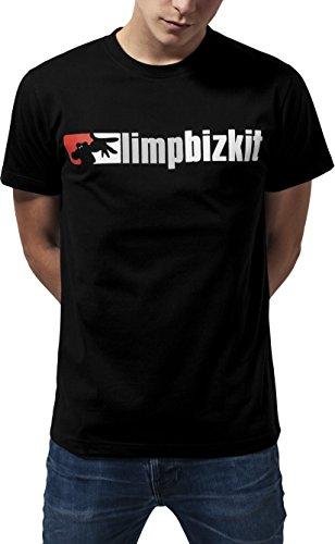 MERCHCODE Jungen Limp Bizkit Logo Tee T-Shirt, Black, M