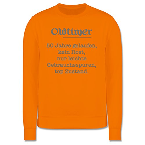 Geburtstag - 50 Jahre Oldtimer Fun Geschenk - Herren Premium Pullover Orange