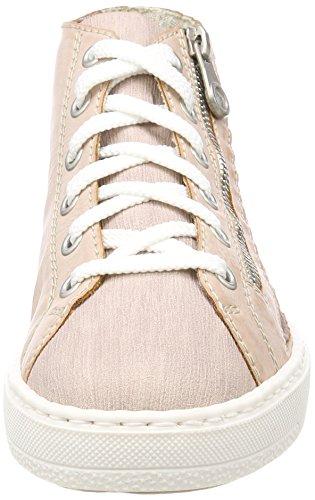 Rieker M7912, Sneaker a Collo Alto Donna Rosso (Rose/rose/altrosa)