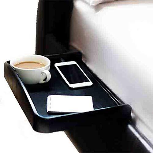 Schwarz Holz Etagenbett (Nachttisch anklemmbar mit Becherhalter eingelassen, Kabelführung für Telefon- & Ladekabel & erhöhter Seitenwand, ideal für Studenten)