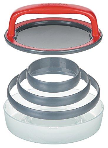 Progressive 3-in-1-Pressa per hamburger, colore: grigio, confezione da 5