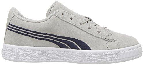 Puma Kids Suede Classic Badge Sneaker Gray Violet-peacoat