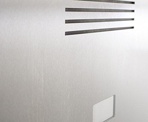 Edelstahl Briefkasten Stele mit Gira Videosprechanlage + Wohnungsstation + Steuergerät – Komplettset - 7