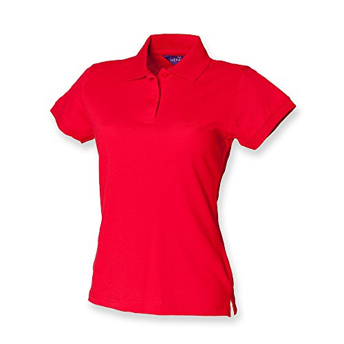 Henbury - Polo -  - Polo - Col polo - Manches courtes Femme Rosso (Classic red)