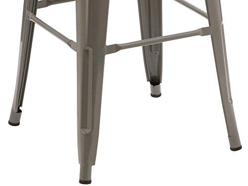 Duhome sgabello di bar in metallo ferro impilabile design