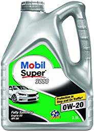 Mobil Super 3000 0W-20 API SN Fully Synthetic Engine Oil (3.5L)