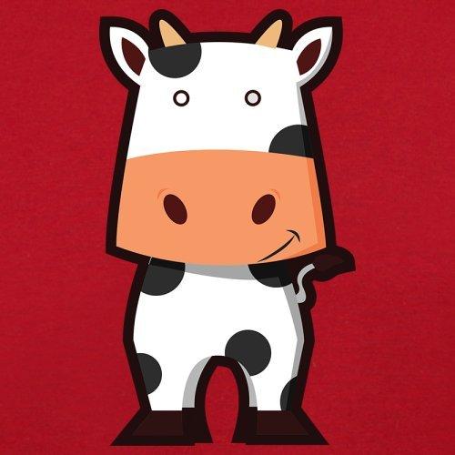 Cute Cow - Herren T-Shirt - 13 Farben Rot