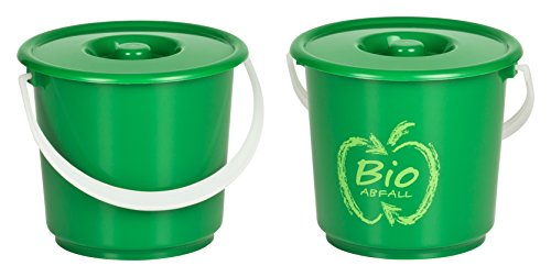 *Kigima Bioeimer Biomülleimer Komposteimer 2er Set 2,7l*