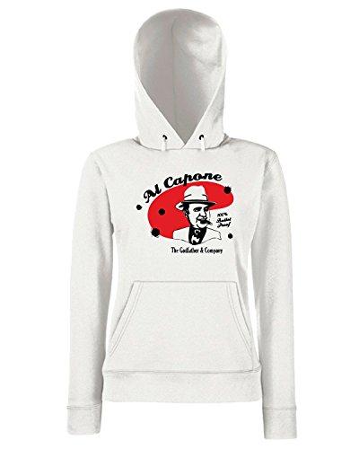 T-Shirtshock - Sweats a capuche Femme OLDENG00009 al capone Blanc