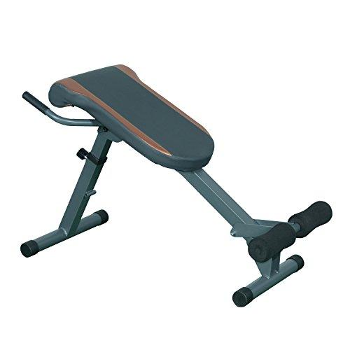 Homcom Überdehnung römischen Stuhl Rückseite Verlängerung Bench Bauchmuskeln Fitness Workout (Stuhl Workout Ausrüstung)