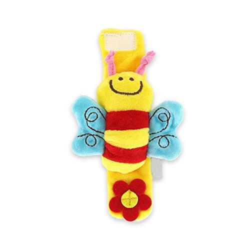 Newin Star Tazas de Muñeca para bebé, Diseño Educativo, Juguete de Animal Suave, Regalo de Ducha (Lindo Abeja) 1 Pieza Bee