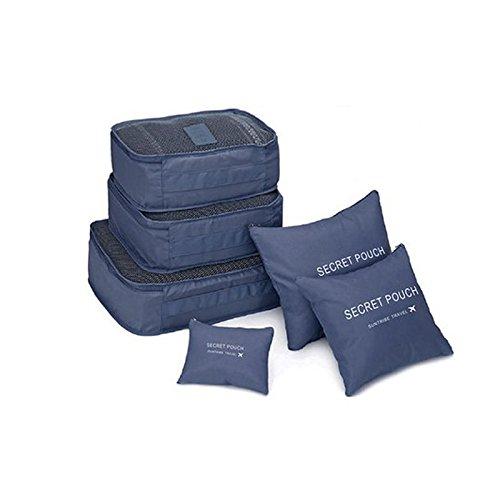 MAyouth Verpackungswürfel, 6 Teile/Satz Kofferorganisator, komprimierbare Gepäckwürfel, ideal für das Reisegepäck, Backpacking, Flugreisen, Wäscherei und Aufbewahrung -