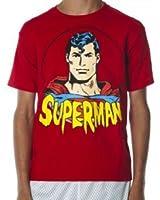 Superman DC Comics Cartoon Face Superhero Youth T-Shirt Tee