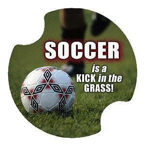 Soccer is a Kick in the Grass Carsters - Coasters for Your Car by Thirstystone Carster Car Coaster