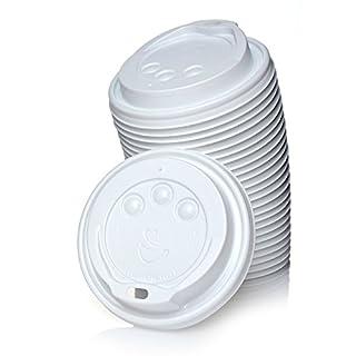 Abena 1000 Deckel für Pappbecher Ø90 mm Weiß 0,3l/0,4l